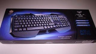 ZaKitane Aula 3 Colors LED Illuminated Backlight Backlit Gaming Keyboard