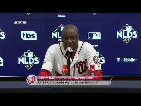 Dusty Baker breaks down the Nationals' loss in Game 5 of the NLDS