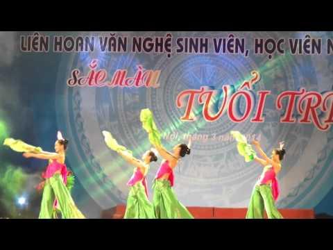 tập múa sắc hoa khoa CNTP  -  VNUA