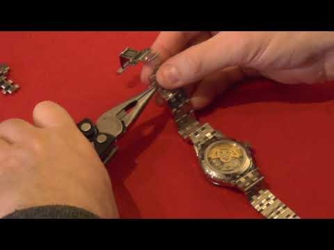 How To Adjust The Bracelet On A Seiko Presage Bracelet SARY079 (SSA341J1)