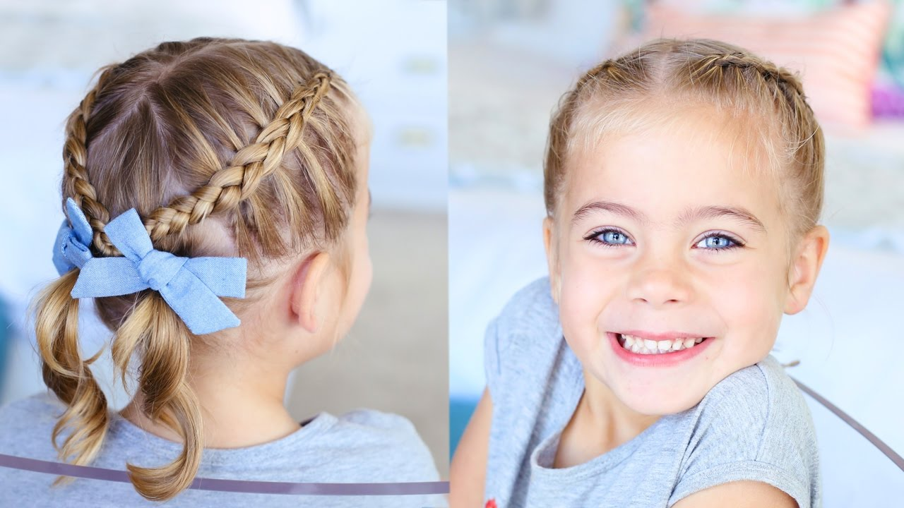 criss-cross pigtails toddler