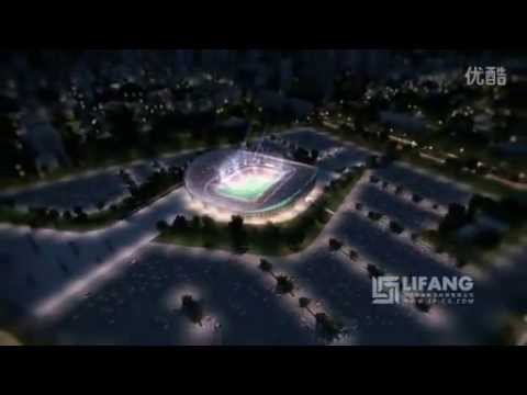 Krasnodar Football Stadium Architectural Fly Through Animation
