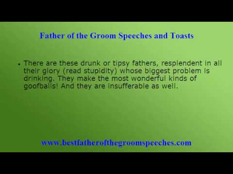 Father Of The Groom Wedding Toasts Beware Toast Disasters