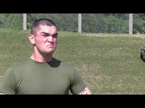 U.S. Marines 31st MEU - Taser and OC Spray Training