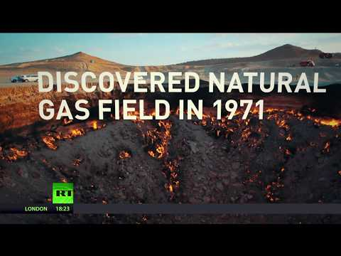 Doors to hell: Molten cavern keeps burning for more than 40yrs in Central Asia