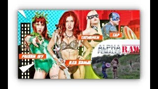 Sexy Amazon Red Sonja savagely fight against Captain America, Catwoman and Poison Ivy !