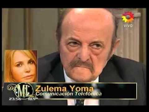 Zulema Yoma y Julio Bárbaro se cruzaron en el programa de Mirtha