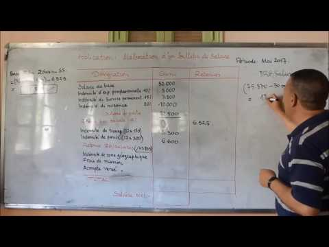 Vidéo 29 élaboration Manuelle Dune Fiche De Paie