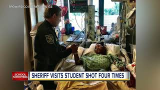 Survivor of Florida school shooting used his body as human shield to protect classmates