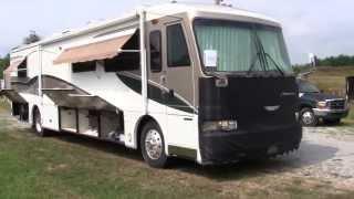 1999 Fleetwood American Dream luxury class A diesel pusher motorhome walk-around video