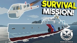 CAPSIZING SHIP SURVIVAL & PLANE CRASH! - Stormworks: Build and Rescue Update Gameplay