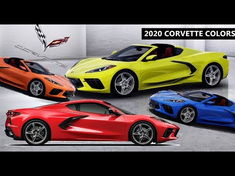 2020 Corvette Stingray C8 All Colors Youtube