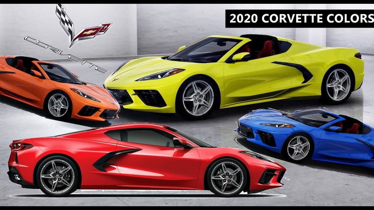 2020 Corvette Color Chart.2020 Corvette Stingray C8 All Colors