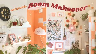 Art Studio Room Makeover + Tour! ✿ Spring Cleaning, Painting, Cute DIY