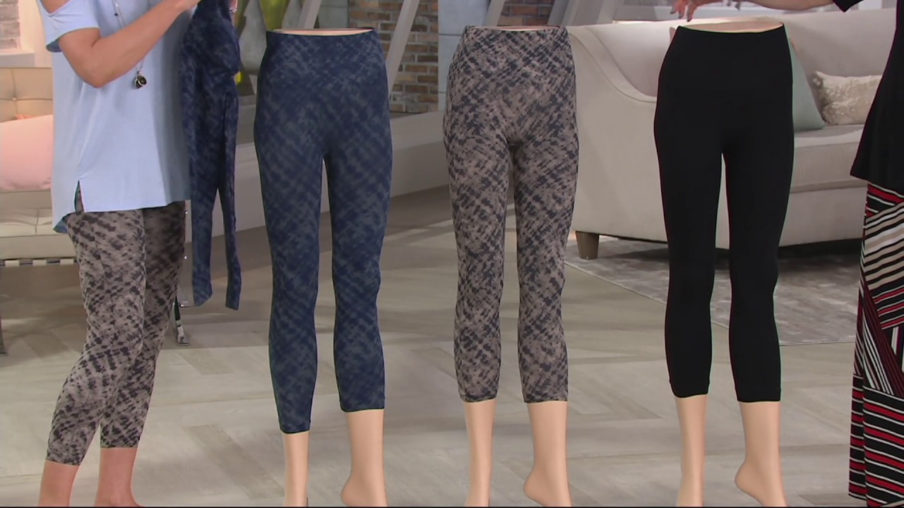7836d3ad0 Spanx Cropped Look at Me Now Seamless Leggings on QVC - YouTube