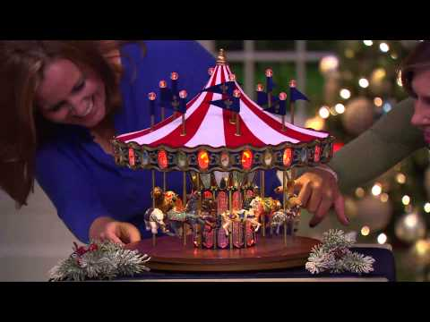 Mr. Christmas Flag Carousel with Lights and Music with Stacey Stauffer