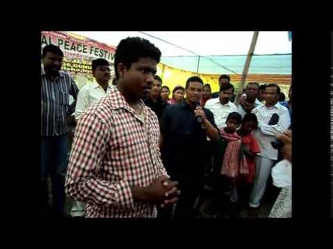 Jesus Heals Blind Hindu Man in India Crusade