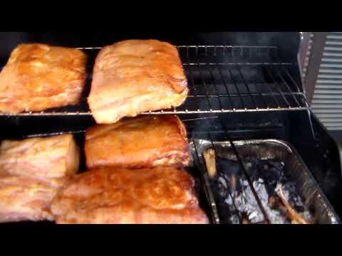 DIY How to smoke Bacon using BBQ smoking apple cherry wood