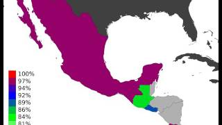 Central America - Youth Literacy Rate, Population 15-24 Years, Male - Timelapse