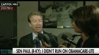 Rand Paul on Senate GOP Healthcare Bill: 'I Didn't Run on Obamacare-Lite'
