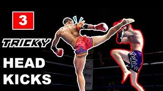 3 Tricky Muay Thai Head Kick KO Techniques