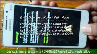 Update Samsung Galaxy Note 7 SM-N930K Android 6.0.1 Marshmallow