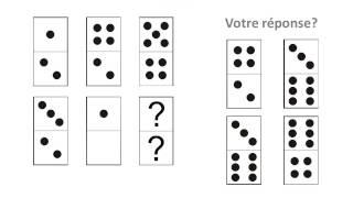 Test des dominos: test psychotechnique corrigé