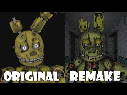 [SFM] Five Funky Nights At Freddy's: Remake vs Original | Comparison