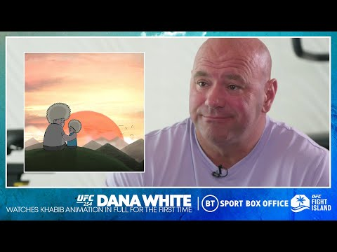 Dana White watches Khabib x Father animation for the first time, pays respect to Abdulmanap
