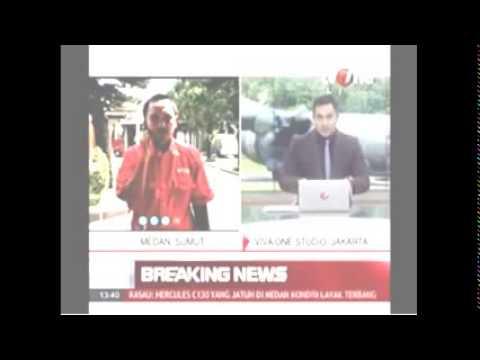 Breaking News Hercules C 130 Indonesian Military Plane Crashes Killed 45 Millitary Ju