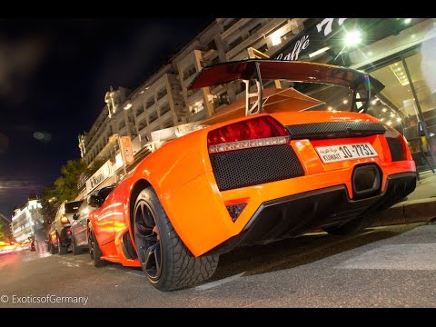 Arab Custom LP640 goes crazy in Tunnels of Monaco + F430 Spider Terror