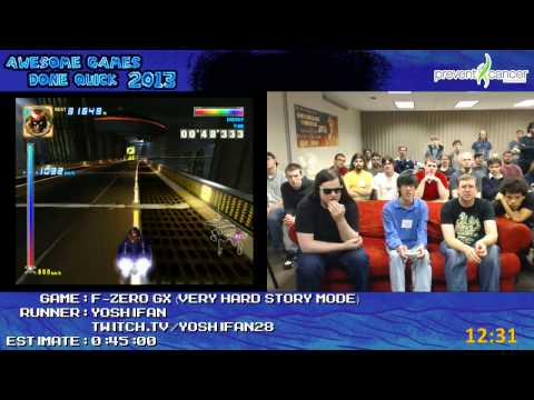 F-Zero GX - SPEED RUN in 0:26:01 (Story, Very Hard) by yoshifan (Awesome Games Done Quick 2013) GCN