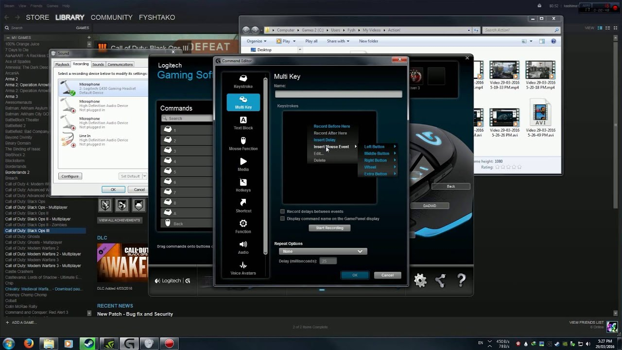 Logitech Gaming Software: Rapid-Fire Macro Tutorial