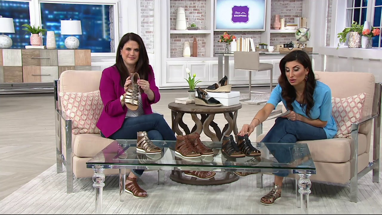 c097ebb5f42f Clarks Leather Adjustable Gladiator Sandals - Kele Lotus on QVC ...