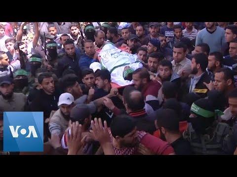 Palestinians Bury Militants Killed In Israeli Air Strikes
