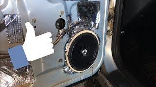 установка 16 см динамиков в ВАЗ 2110, фронт, установка динамиков в передние двери