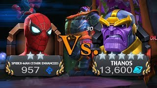 2 Star Spider-man (Stark Enhanced) Vs. MAXED OUT 5 STAR THANOS [Infinity Wars Special]