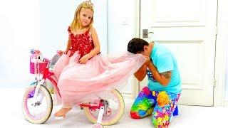 Nastya học cách chăm sóc quần áo