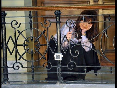 30 de SEP. Cristina Fernández le habló a la militancia en Casa Rosada