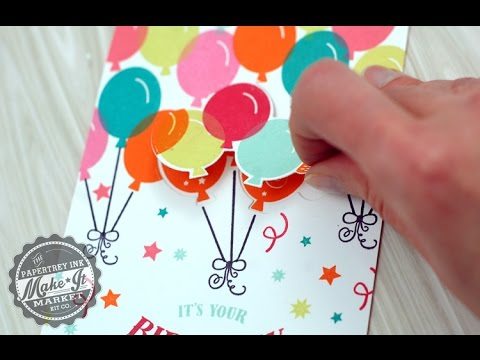 Papertrey Ink Make It Market: Party Pops Kit -  Lift the Flap Cards