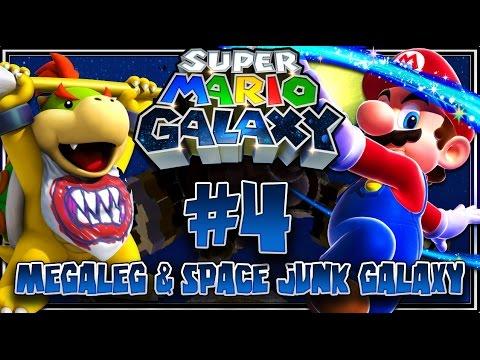 Super Mario Galaxy (1080p 60FPS 100%) - Part 4: Megaleg Boss & Space Junk Galaxy