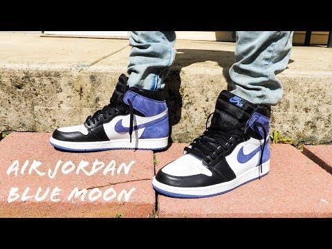 Air Jordan 1 Blue Moon On Feet Review Youtube