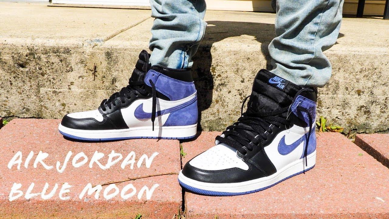 Air Jordan 1 Blue Moon On Feet Review!!! - YouTube 91a8b3504