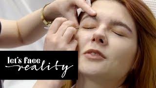 Klaudia mit K lässt sich die Augenbrauen zupfen! | Let's Face Reality | ProSieben
