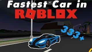 FASTEST CAR ON ROBLOX! 333+ mph