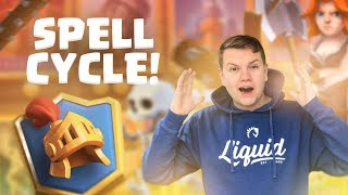IT ACTUALLY WORKS! Spell Cycle Deck 6,000+ Ladder Gameplay - Clash Royale