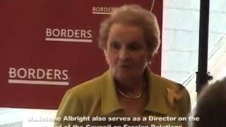 Madeleine Albright confronted on Bilderberg & New World Order Crimes