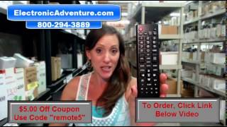 LG AKB74475455 Coupon $5 Off Remote Control LED HDTV (AGF76692632)ElectronicAdventure.com