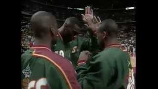 Chicago Bulls Introduction 1996 NBA Finals Game 6 vs Seattle Supersonics