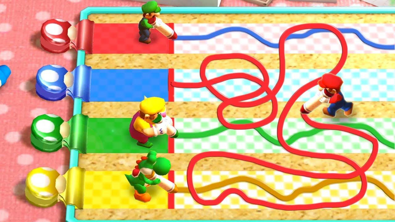 Mario Party The Top 100 MiniGames - Mario Vs Wario Vs Luigi Vs Yoshi (Master Cpu)